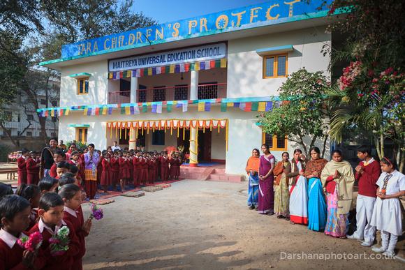 Welcoming HH 17th Karmapa to Root Institute, Bodh Gaya