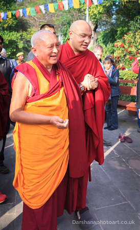 Lama Zopa Rinpoche welcomes HH 17th Karmapa