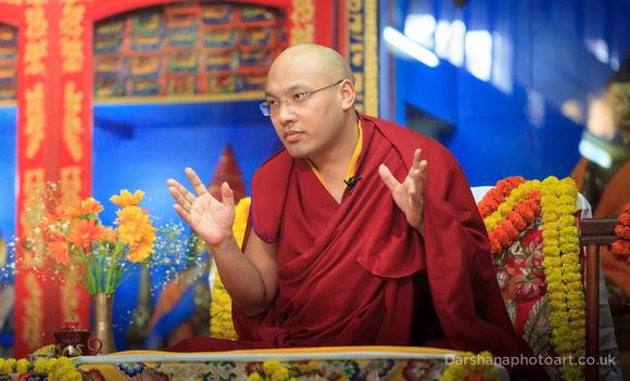 HH 17th Karmapa teaching at Root Institute, Bodh Gaya